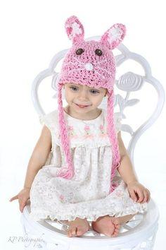 Sweet Bunny Crochet hat