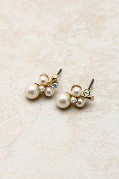 pearl + crystal clusters