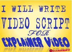 provide explainer video script writing service by ellascript