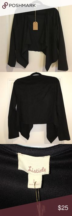 Black Jacket Hot Deal! 🔥 100% Polyester Never Worn Listicle Jackets & Coats