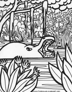 printable jungle animals | coloring pages jungle animals 006 ... - Cute Jungle Animal Coloring Pages
