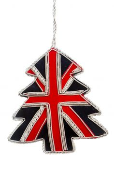 Union Jack Christmas tree ornament