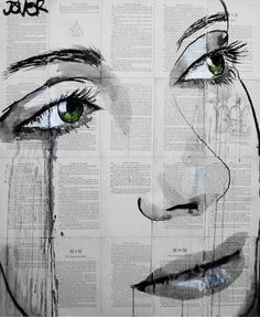 "Saatchi Online Artist Loui Jover; Drawing, ""momentary bliss"" #art"