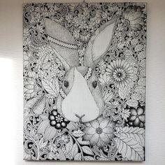 I'm visiting in my parents house which I grew up in Sapporo Japan.  I found my old drawing botanical rabbit. Hello rabbit :) 実家の札幌に帰省中ですが、3年くらい前にイベントの最中に野外でぼーっと描いてた絵を発見。母が欲しがったので以前あげたものでした。実家は自分の絵と孫の写真で埋め尽くされていて、時の流れも感じます。絵や写真じゃなく、いつかまたここに戻ってくるのも悪くないなと最近は思います。 #noahsart #illustration #rabbit #draw #doodle #drawing #lineart #black #tribal #art #artist #artwork #絵 #ウサギ #creative #details