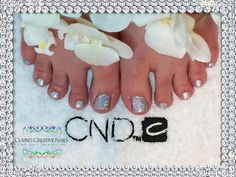 CND Shellac and Holographic Silver Glitter to create Rockstar Twinkle Toes. By Claire's Creative Nails, Northampton. Call or text: 07752 397245 to book your appointment. #shellac #northampton #rockstars #glitter #pedicure #nailsalon #christmasnails