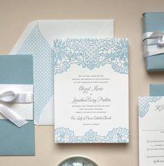 Soluzioni Originali: partecipazioni di matrimonio in pizzo realizzate in letterpress!