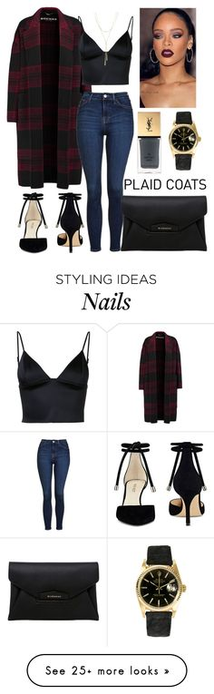 """""""Untitled #216"""" by c-ayannah on Polyvore featuring Rochas, T By Alexander Wang, Topshop, Nine West, Rolex, Bloomingdale's, Givenchy and Yves Saint Laurent"""
