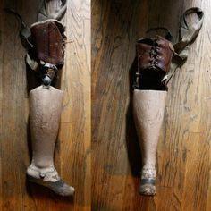 Antique prosthetic leg