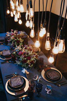 Blue Wedding Flowers La Tavola Fine Linen Rental: Velvet Navy with Topaz Night Napkins Starry Night Wedding, Moon Wedding, Celestial Wedding, Blue Wedding, Trendy Wedding, Dream Wedding, Autumn Wedding, Luxury Wedding, Space Wedding
