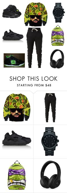 """green dayz"" by aleisharodriguez ❤ liked on Polyvore featuring John Elliott, Retrò, NIKE, Michael Kors, Sprayground, Beats by Dr. Dre, men's fashion and menswear"