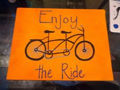 Enjoy the ride pallet sign (hoc made 7-14)