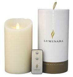 "7"" Flameless Candle w/ Remote, Ivory 
