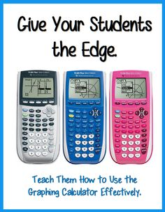 Be the class hero with the Graphing Calculator! Show you Algebra, PreCalculus, Trigonometry, Calculus, and Statistics students all the ins and outs of how to use the Plus and Plus. Ap Calculus, Maths Algebra, Math Teacher, Math Classroom, Teaching Math, Teaching Ideas, Classroom Ideas, 8th Grade Math, Ninth Grade