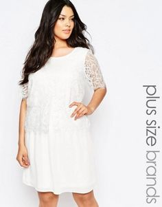 Junarose Lace Overlay Swing Dress