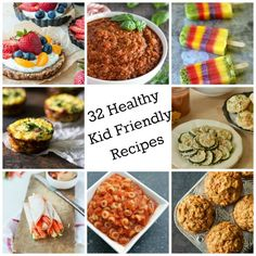 These 32 Healthy Kid Friendly Recipes will excite your kids with a variety of delicious breakfast, lunch, dinner, snack and dessert ideas. Most of these recipes include a vegetable in them so you can make sure you child is getting that extra dose of veggies! // A Cedar Spoon
