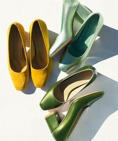 shades of green high heel styling