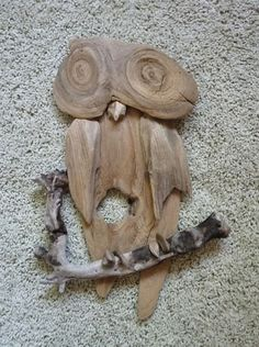 Owl Handmade from Lake Superior Driftwood - Rustic Wall Decor