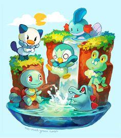 pokemon iniciales tipo agua