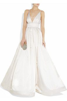 KAUFMANFRANCO. Silk-satin gown. A bridal choice. £8,540.