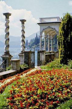 Garden, Villa monastero, Varenna, Lake Maggiore, Italy