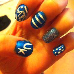 My UK Wildcats nails! Go big blue