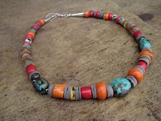 Natural Turquoise Necklace Baltic Amber Coral African Statement Piece Gray Shell Summer Fashion Jewelry Teal Blue Orange Honey Yellow Red.