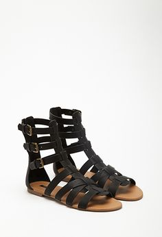 a1acd8ffd3a6 Faux Leather Gladiator Sandals