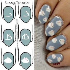 Bunny nail art photo tutorial