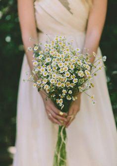 bouquet de mariee jolies paquerettes