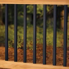Create an elegant style for your deck with Deckorators Estate square balusters. Shop Deck Expressions for the best customer service and leading products. Metal Deck Railing, Deck Balusters, Front Porch Railings, Deck Railing Design, Patio Railing, Metal Pergola, Deck Design, Aluminum Porch Railing, Porch Handrails