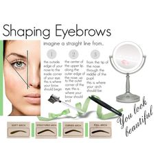 """""""Shaping eyebrows"""" they frame your face.  Ask an expert to help and you'll never look back!"""