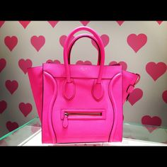 who needs a man when you have a hot pink Celine?
