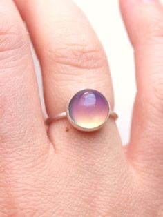 Medium Mood Ring  Sterling Silver & Color Changing by proteales, $35.00 // but in yellow gold
