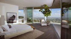 La chambre de la villa du DJ Avicii à Los Angeles