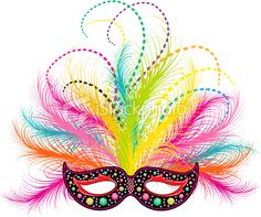 Mardi Gras Jeweled Mask Royalty Free Stock Vector Art Illustration