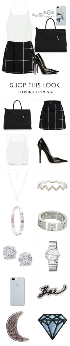 """""""Untitled #156"""" by lani-silva ❤ liked on Polyvore featuring Yves Saint Laurent, Zara, Jimmy Choo, Child Of Wild, EF Collection, Cartier, Effy Jewelry, Gucci and ETUÍ"""