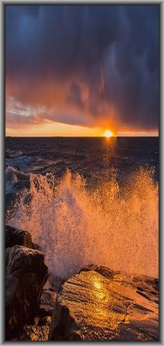 Wave at Sunset  #by JLindroos on flickr.com