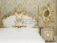 Baroque bedroom suite in royal interior