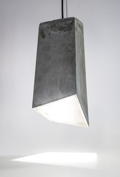 concrete hanging lamp: Our first series explores concrete and its application in contemporary object design. 20 Eight Design