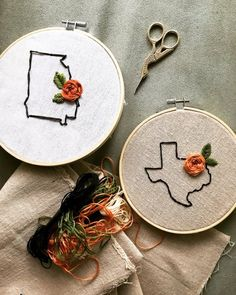 b33155ab4d YOUR STATE embroidery hoop    custom floral hand embroidered    gifts for  her    personalized gift h