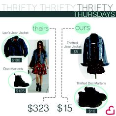 Follow our Thrifty Thursday Posts to save some money on your favorite looks!