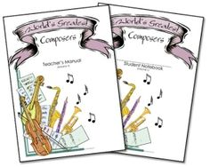 World's Greatest Composers study by Erica @ Confessions of a Homeschooler - includes many Cycle 1 composers as well as a lapbook on the by angela