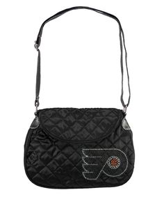 Philadelphia Flyers NHL Sport Noir Quilted Saddlebag