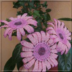 Gerbera flower from bead