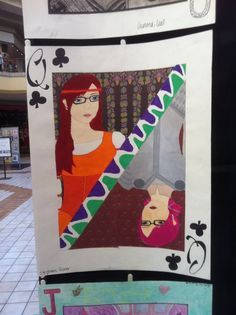 One of the assignments in my art class was to create a Self Portrait Playing Card. We spend a whole day choosing what card we wanted to be. Mine ended up being show cased in our local mall's art gallery.