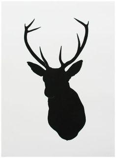 Oh+Deer+Black+Screen+Print+from+SE10+Gallery