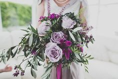 Lilac and purple wedding bouquet    Photography by http://marymcquillanphotography.com/