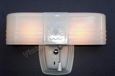 Art Deco bathroom light fixture | antique deco lighting fixture | cottage