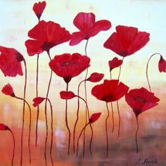 water+color+poppy | Oil painting of Dancing Poppy - Art Emilia