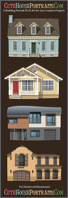 1000 images about custom house portraits on pinterest for Website where you can build your own house